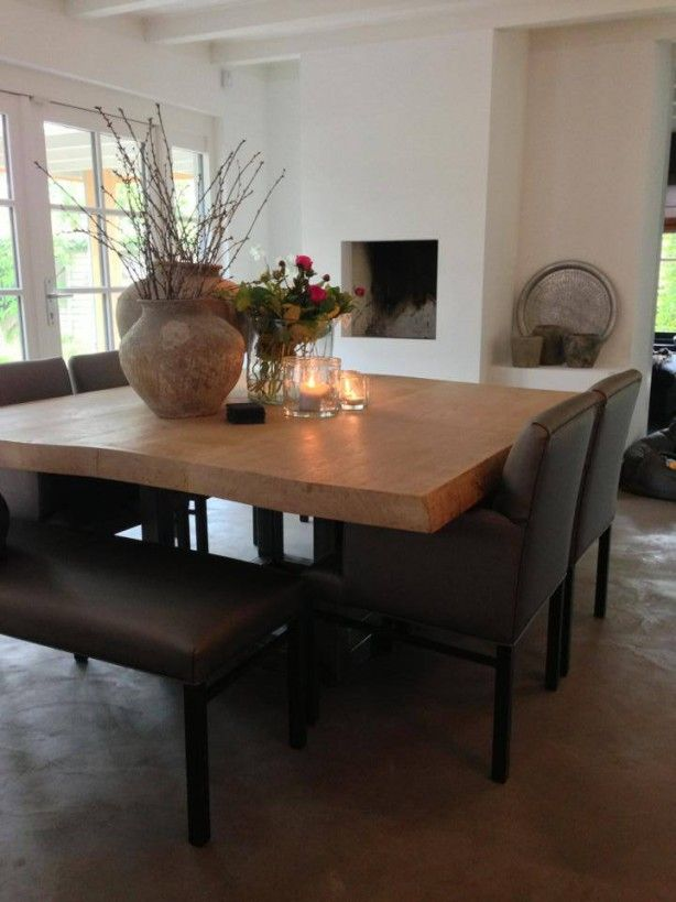 Vierkante tafels op pinterest ryland huizen ronde boerderij tafel en toonbank hoge tafel - Tafel josephine wereldje van het huis ...