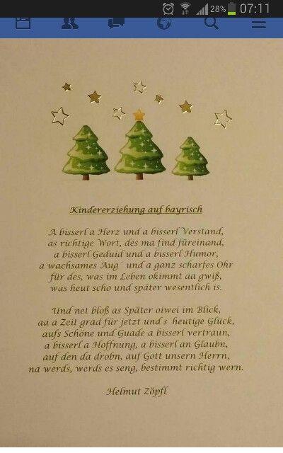 Gedicht weihnachten bayrisch