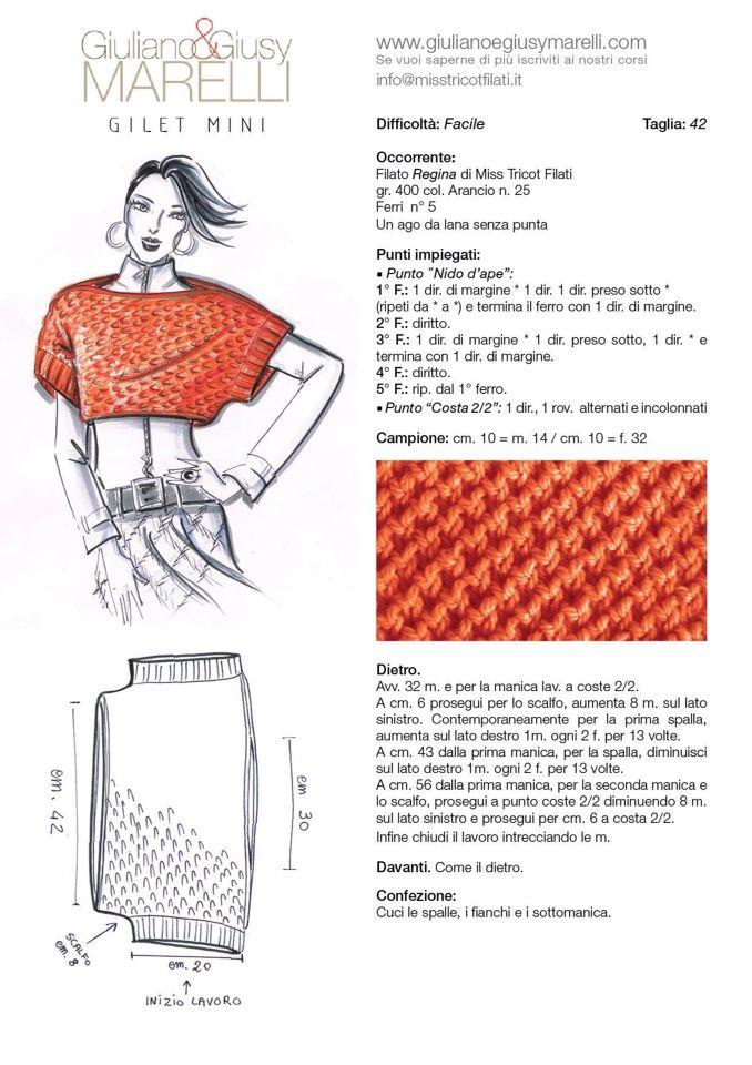 pattern in Italian | otoño | Pinterest | Ganchillo, Ganchillo ropa y ...