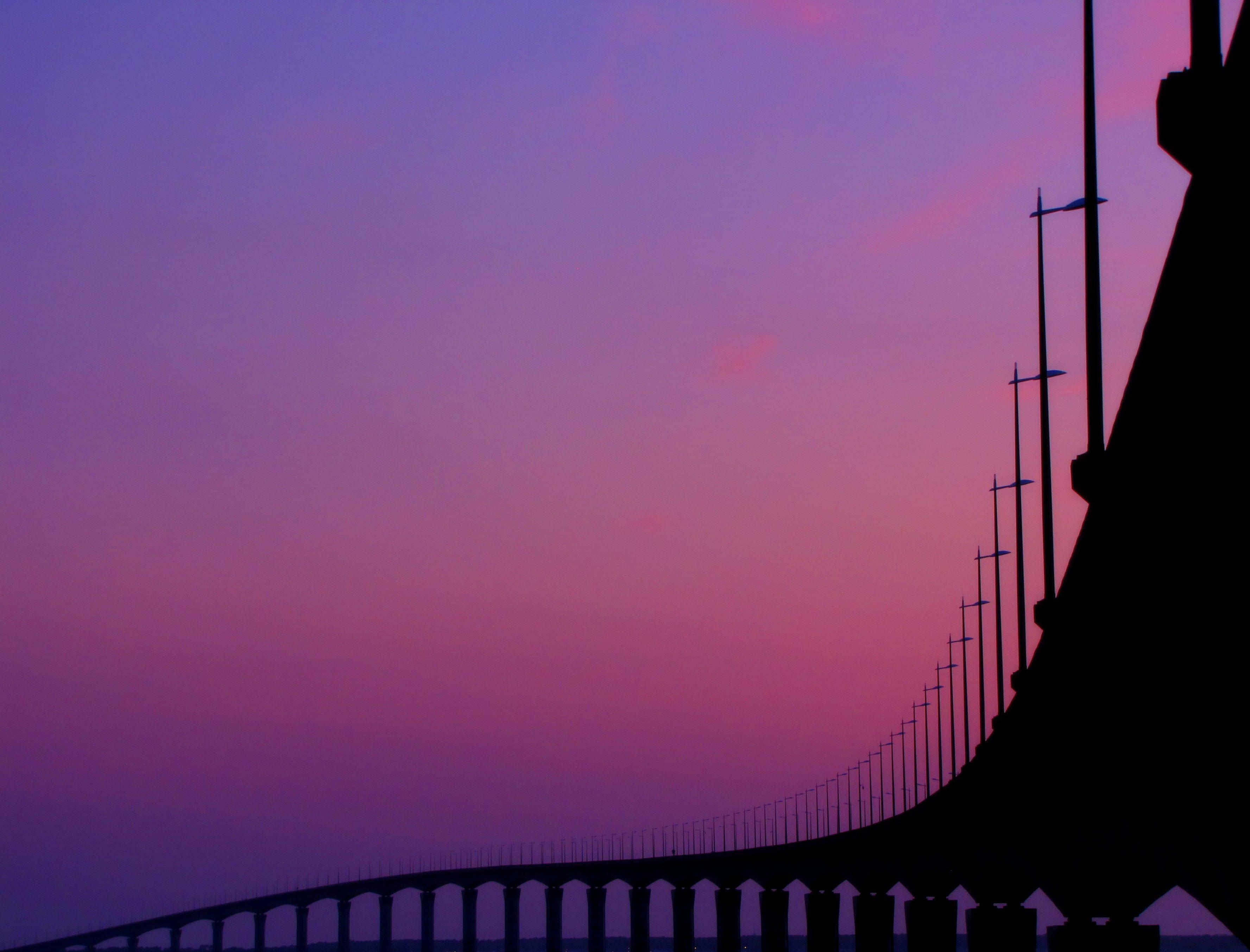 Pont de l'ile de ré - Purple version