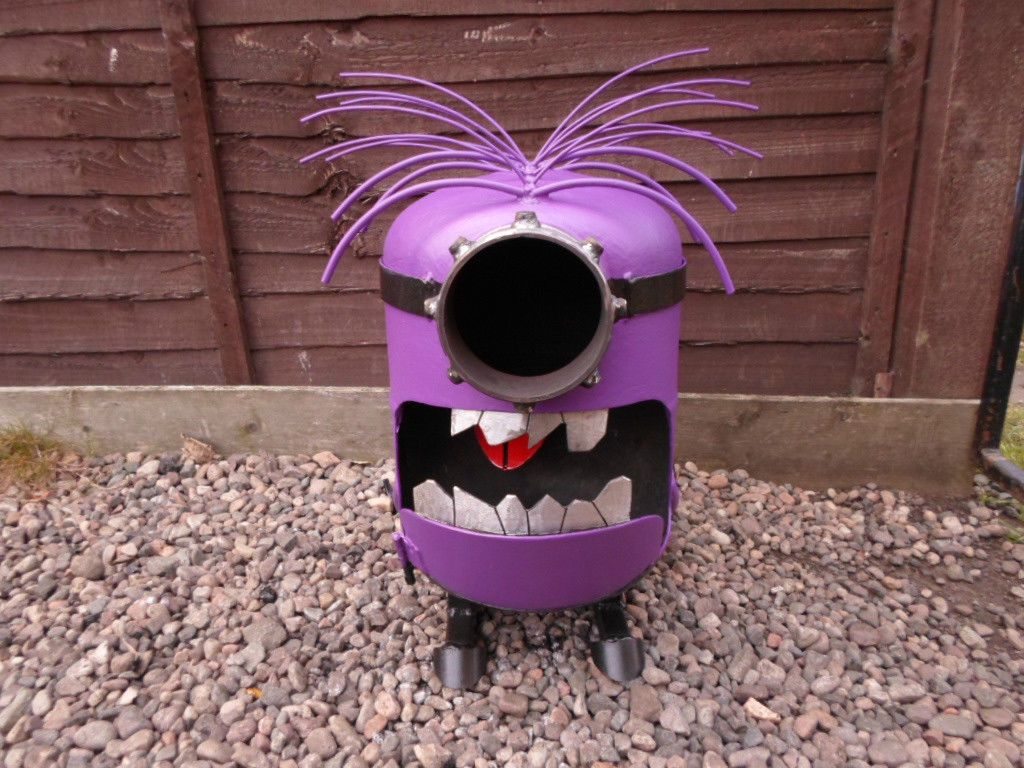 despicable me minion garden burners made from gas bottles log