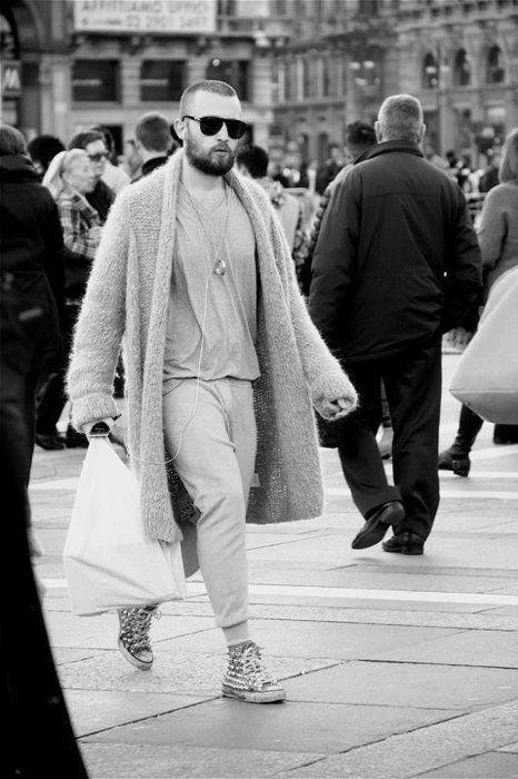 Knitted Coat for Men. #men #knit #knitted