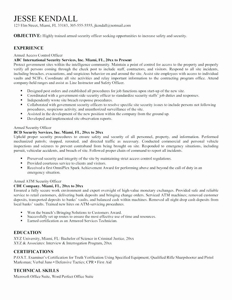 20 Security Guard Job Description Resume in 2020 Teacher