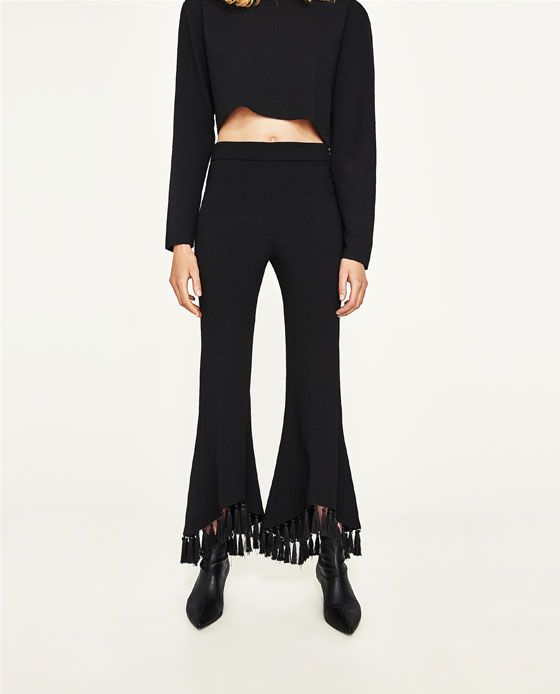 d0377a07 Image 2 of ASYMMETRIC FLARE TROUSERS from Zara | closet | Fashion ...