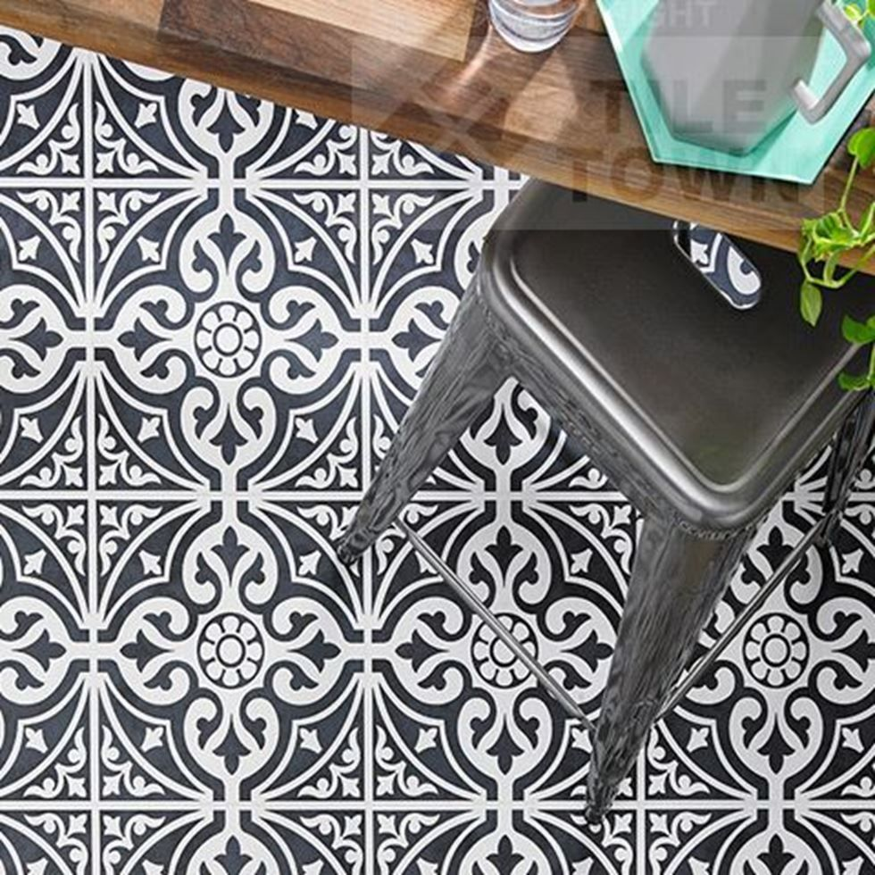 Kedleston Black Floor Tiles supplied by Tile Town. Discounted ...