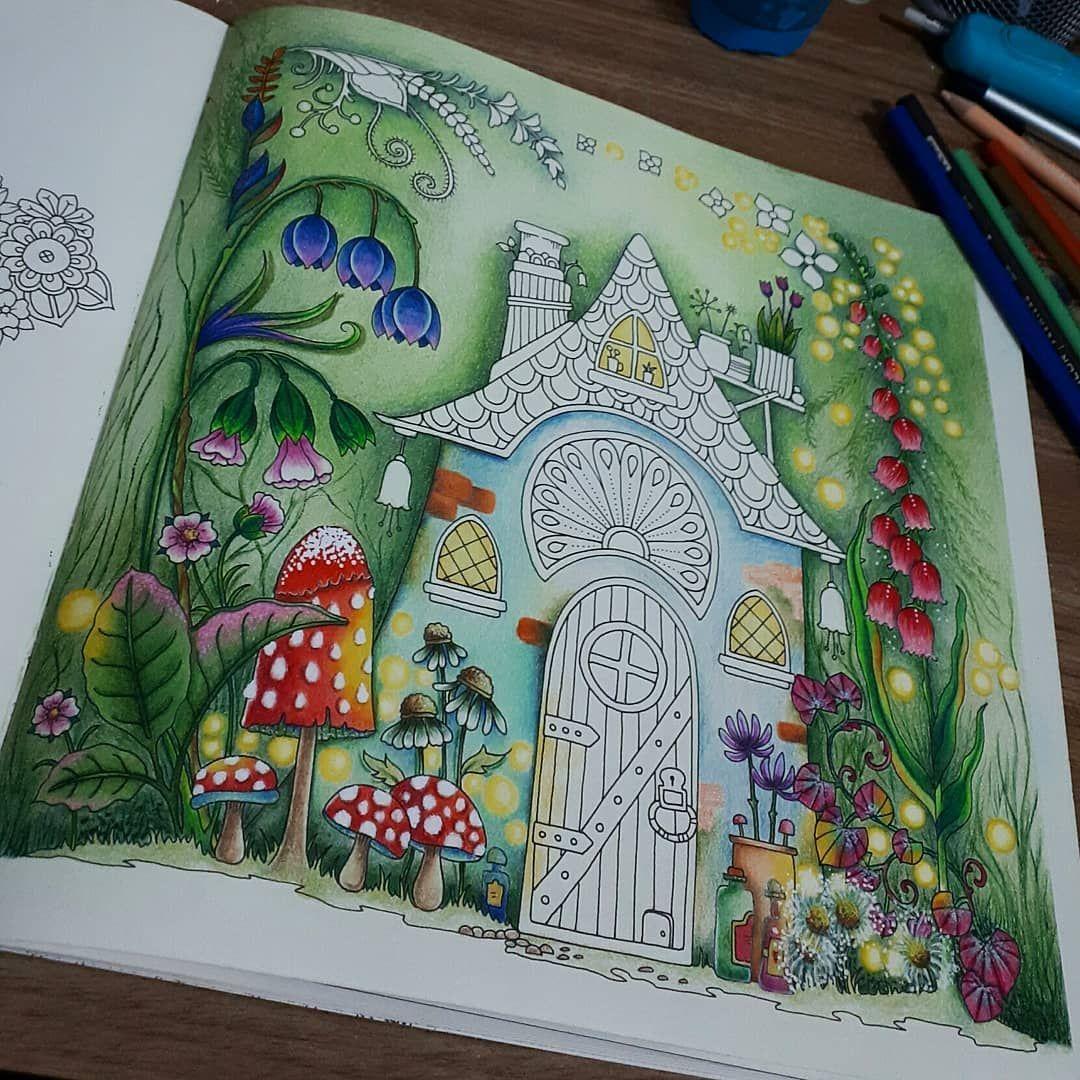 이미지 사람 1명 Coloring book art, Enchanted forest coloring