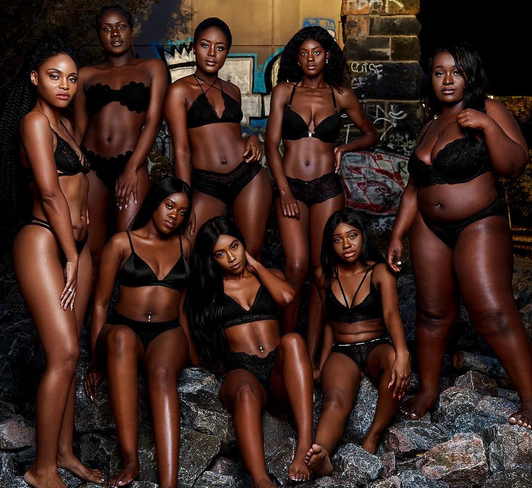 This powerful photoshoot celebrates the beauty of black women #darkskingirls