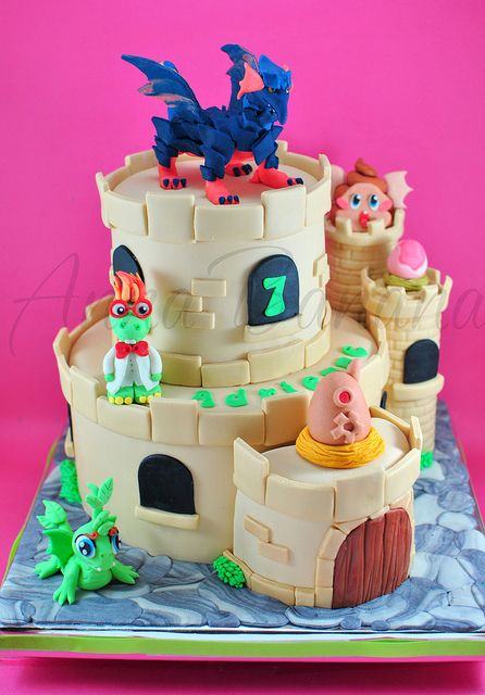 Dragon City Cake Torta De Cupcakes Dragon City Y Fiestas