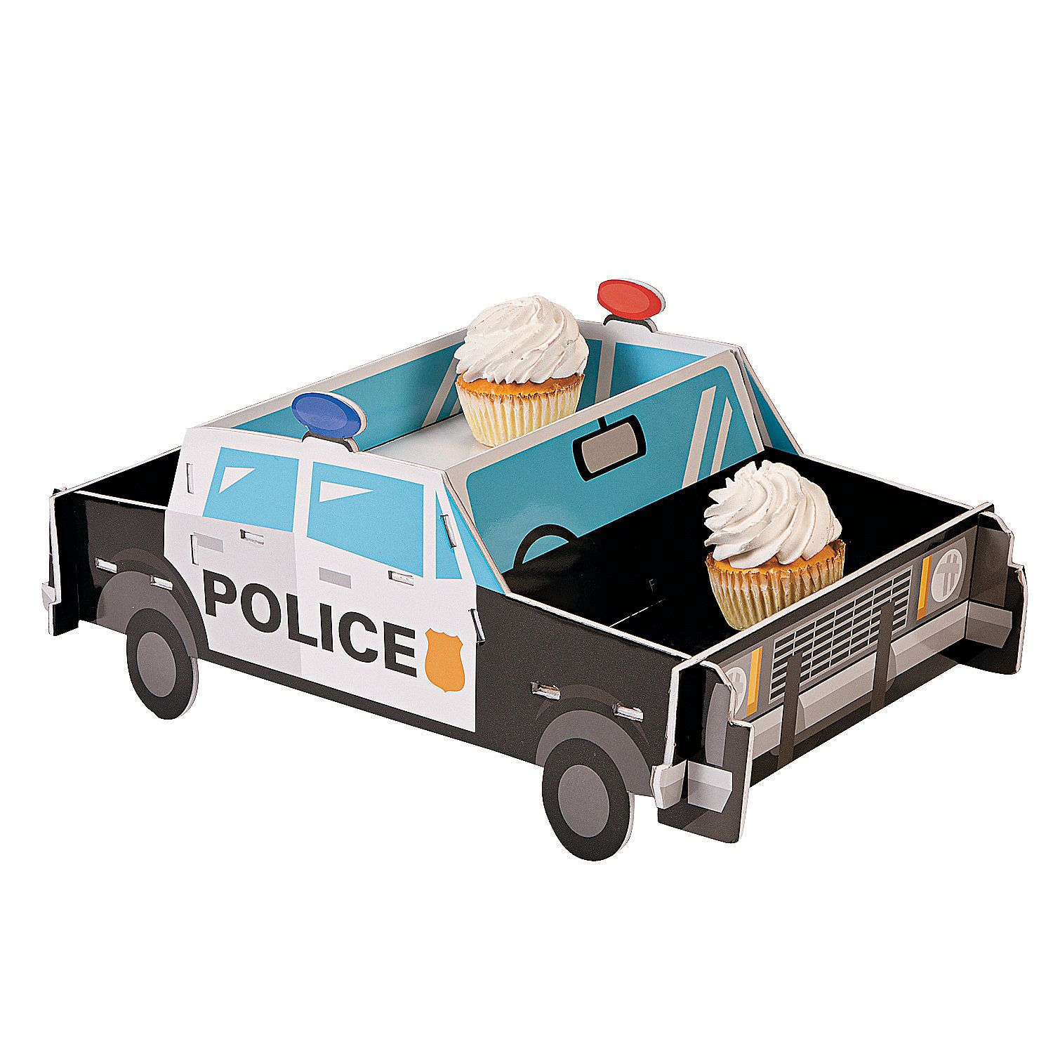 Police Party Cupcake Holder - OrientalTrading.com