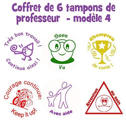 Coffret de 6 tampons de professeur en français - Avec Aide ...