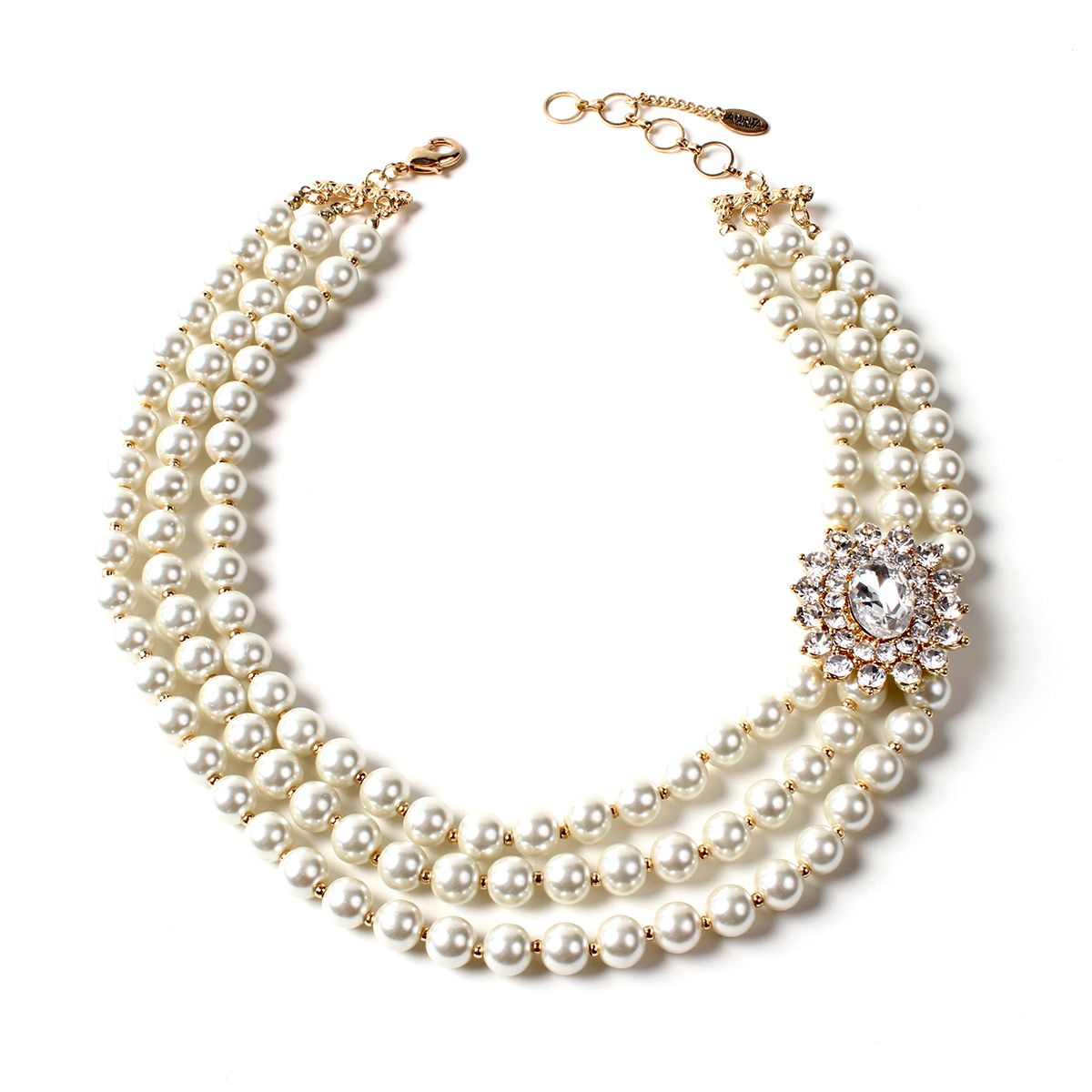 double pearl latest necklace designs