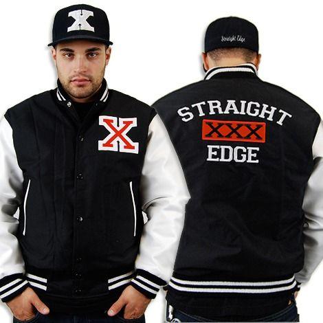 Straight Edge Varsity 60 Motive Clothing Http Motive Merchnow Com Straight Edges Varsity Jacket Message T Shirts