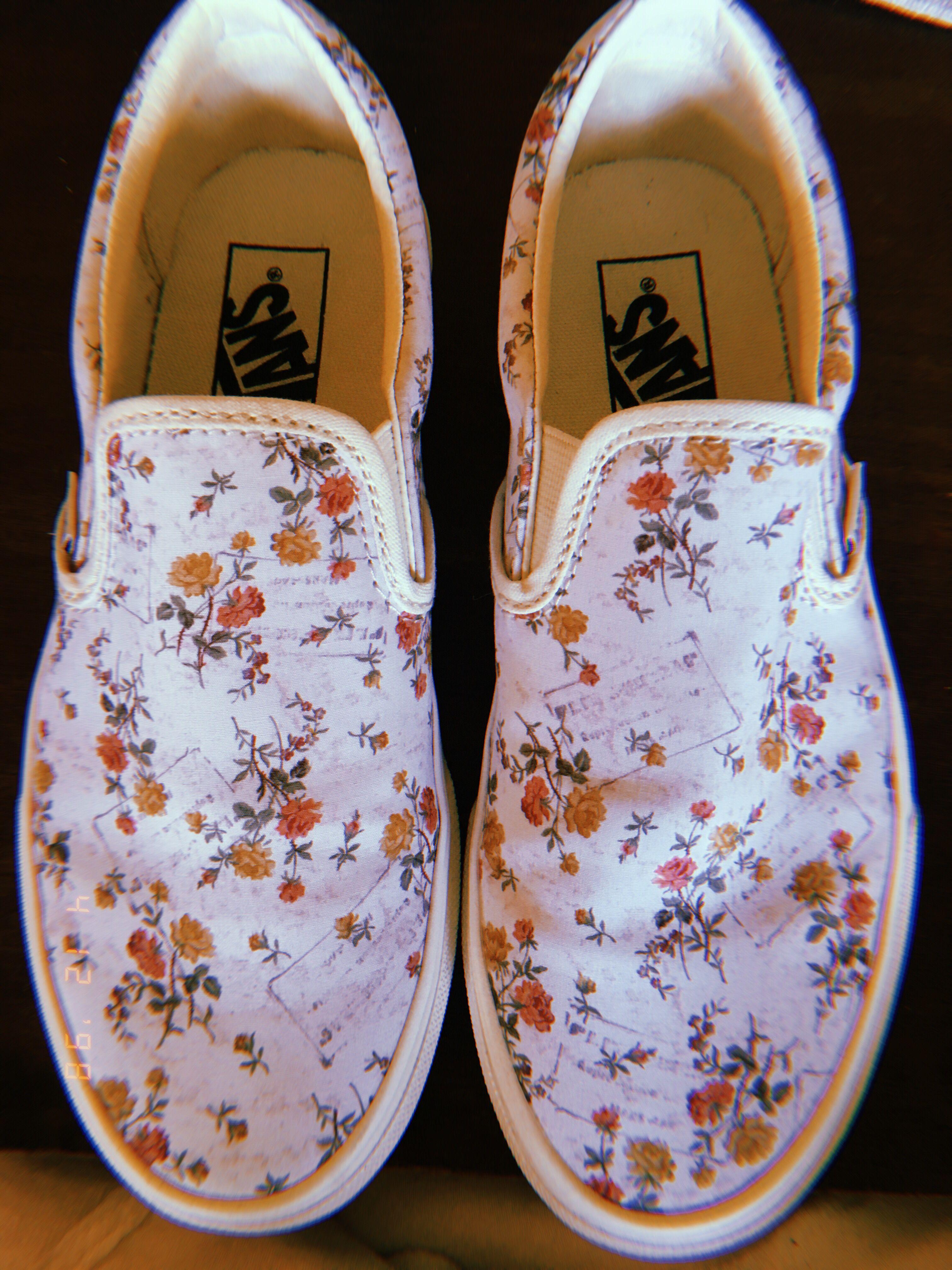 Vintage floral vans!   Shoes, Aesthetic