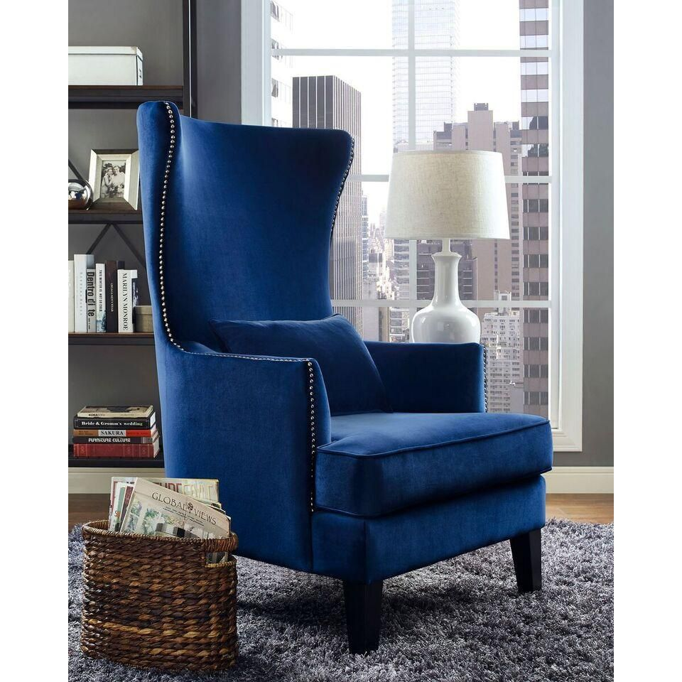 Crystal high back accent chair in 2020 high back accent