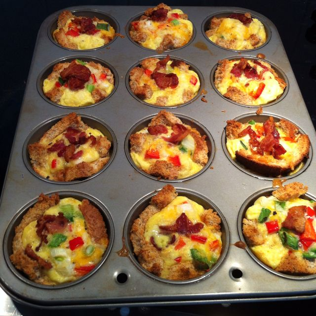 Baked Scrambled Egg Cups Ready To Eat Food Recipes