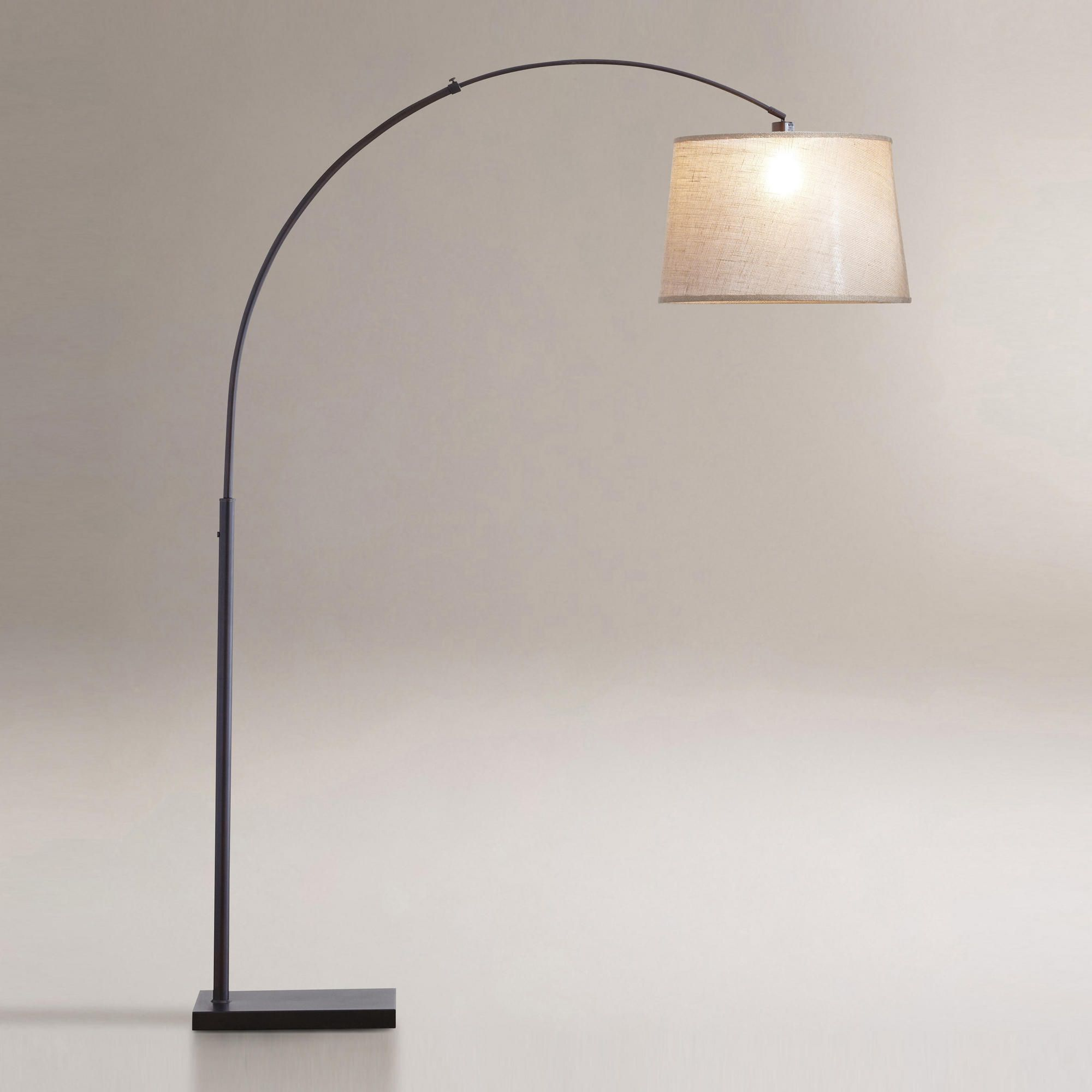 Floor Lamp Base Alluring Large Shade Arc Floor Lamp  Httpafshowcaseprop  Pinterest Review