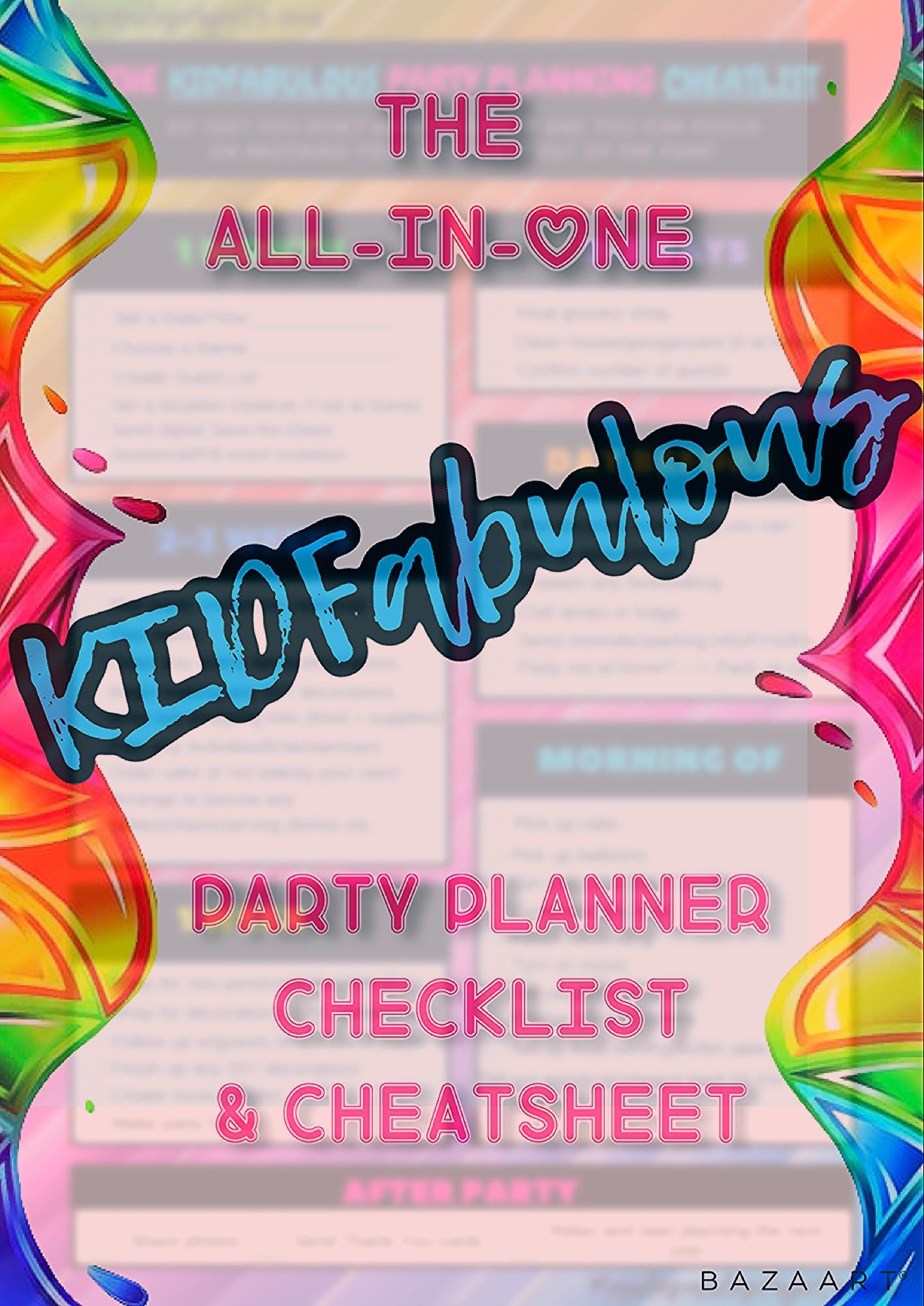 Photo of Party Planning Checklist and Cheatsheet