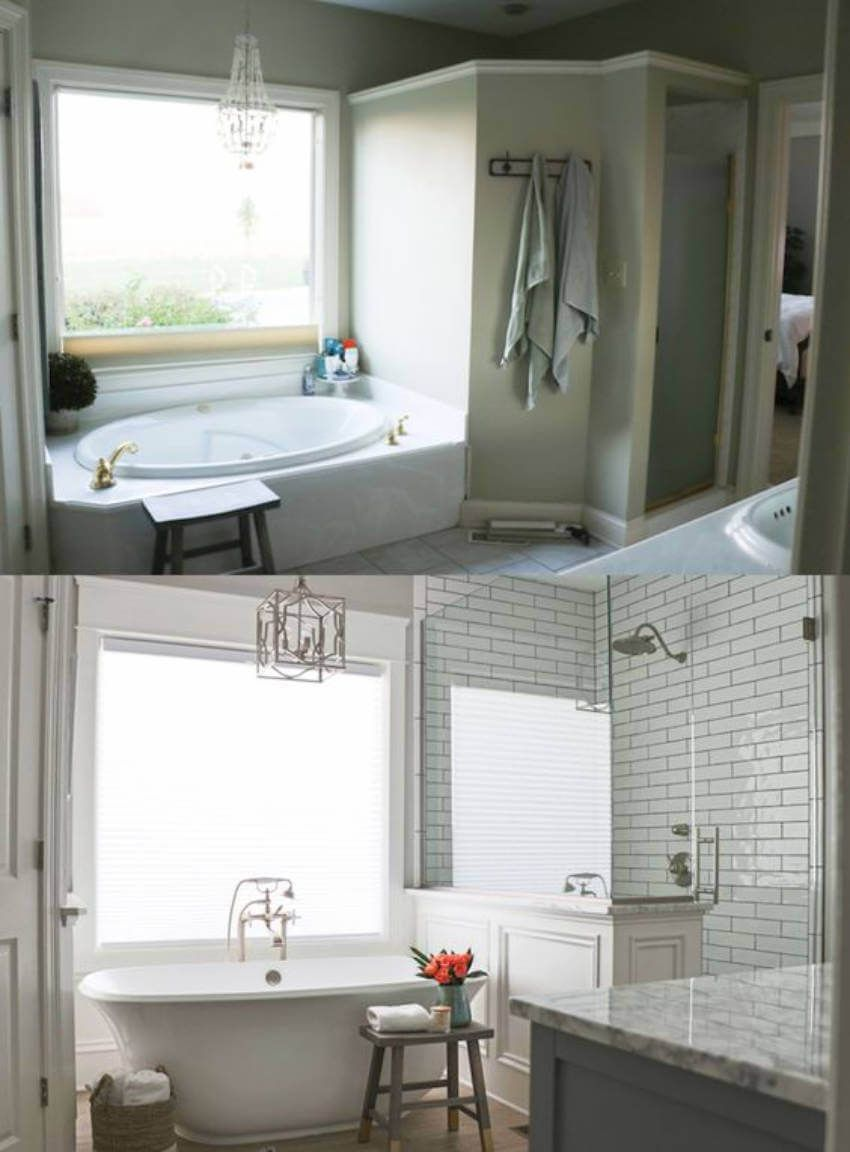 9 Before And After Photos Of Bathtub Transformations Home Remodeling Renovation Small Bathroom