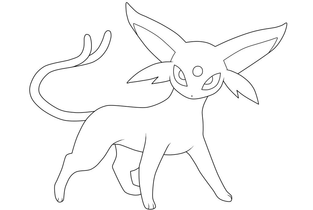 Espeon Lineart By Moxie2d On Deviantart With Images Pokemon