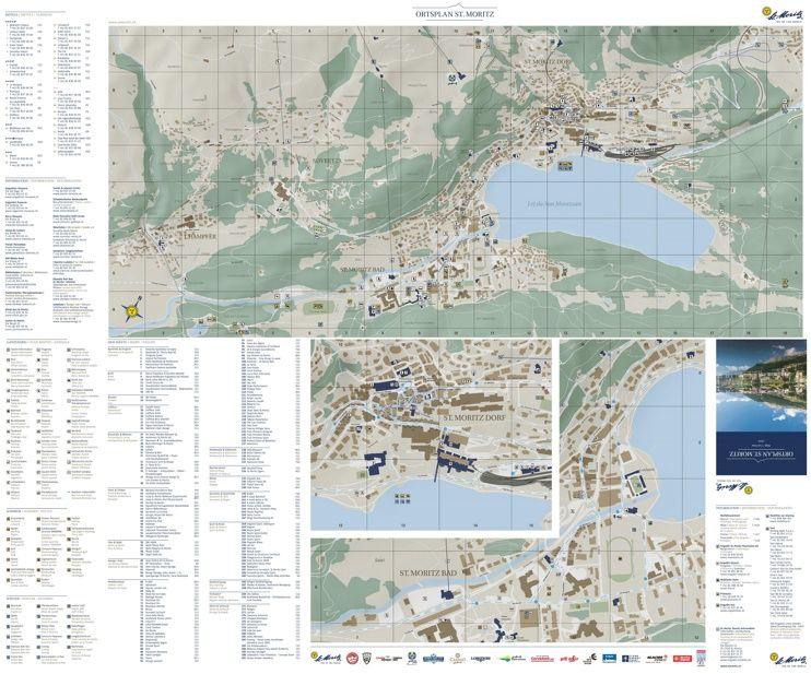 St Moritz tourist attractions map Maps Pinterest Switzerland