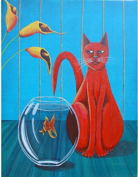 les chats de cathy , Catherine Musnier Peintre / Art naïf, animalier