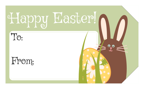 Bunny and egg happy easter gift tag easter bunny pinterest happy easter bunny and egg gift tag label templates ol1763 onlinelabels negle Image collections