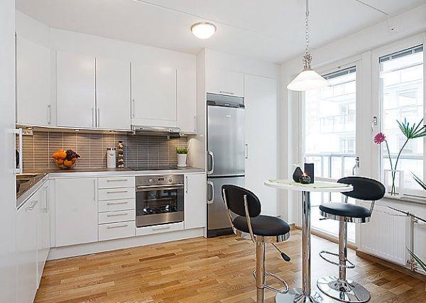 l shape kitchen without island
