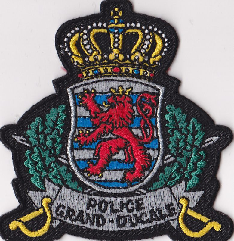 Luxembourg Police badge, Police, Police patches