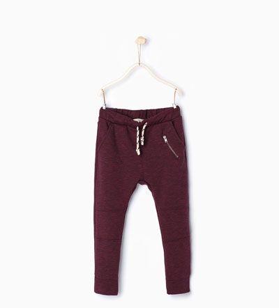 Malique - ZARA - KIDS - Plush trousers with zip