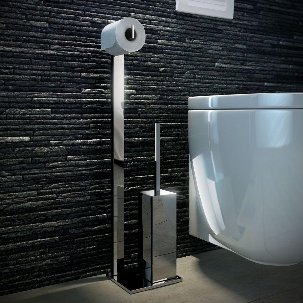stijlvolle toiletrolhouder en wc borstel houder voor een moderne