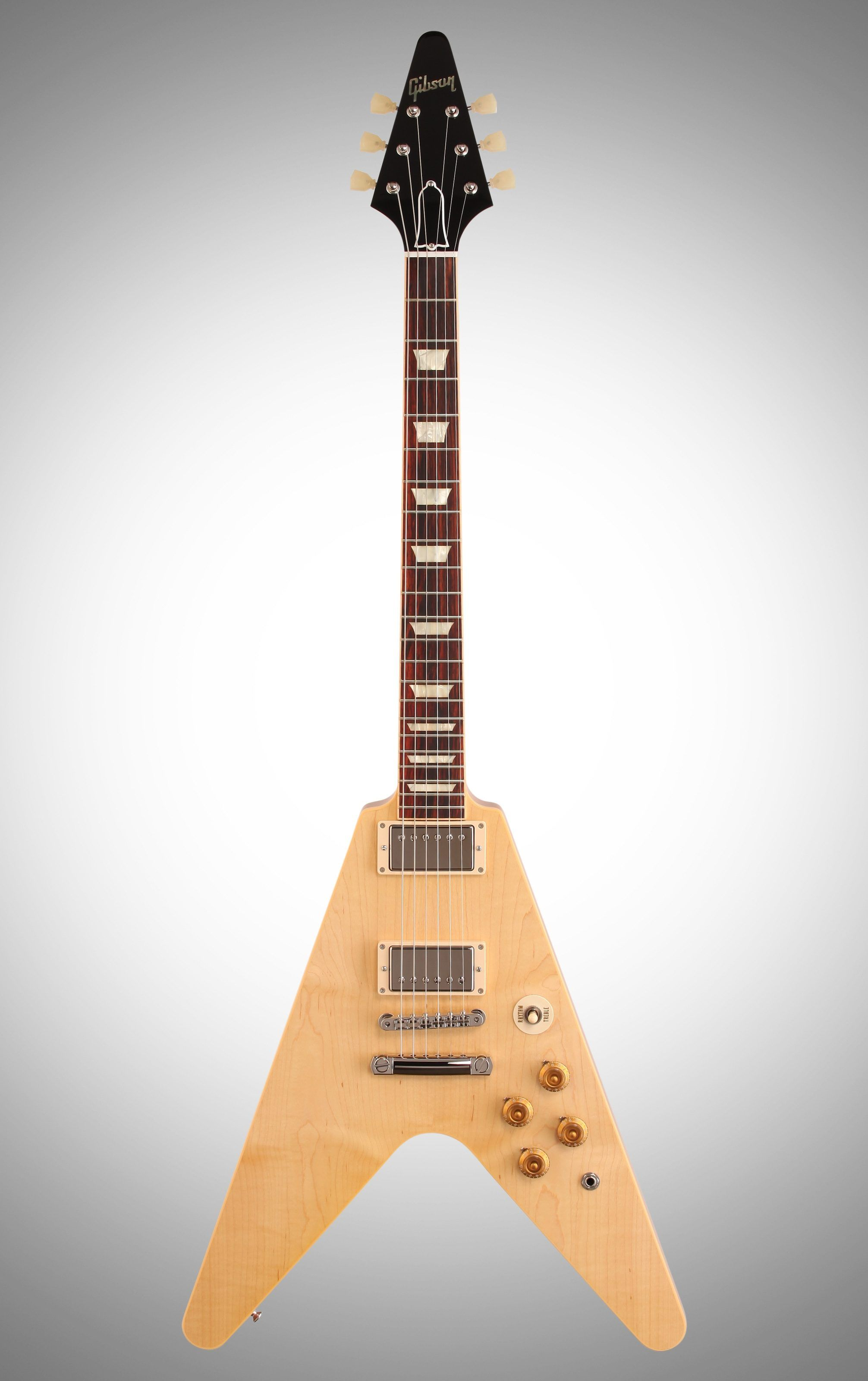 Gibson Limited Edition Custom 1959 Flying V Figured Top Electric Rd Artist Guitar Natural