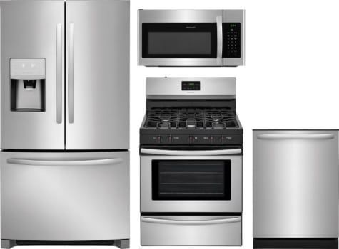 Frigidaire 4 Piece Kitchen Appliances Package With French