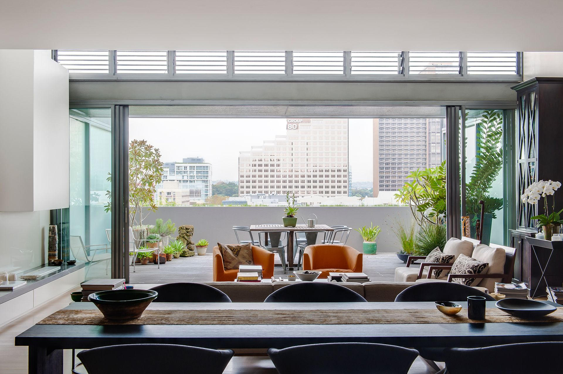 The Openplan Living And Dining Room Of This Innersydney Cool Private Room Dining Sydney Design Ideas
