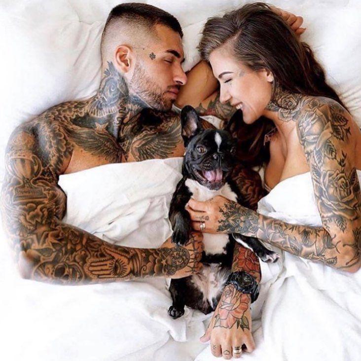 "Tattoos on Instagram: ""Couple goals 😍 @deynn"""