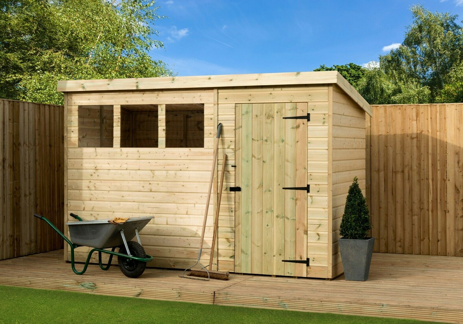 Pressure Treated Shed In 2020 Wooden Sheds Shed Garden Tool Shed