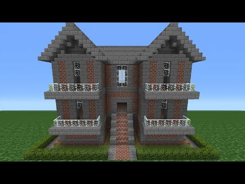 Minecraft Tutorial How To Make A Brick House 10 Minecraft House Tutorials Minecraft Brick Minecraft Tutorial