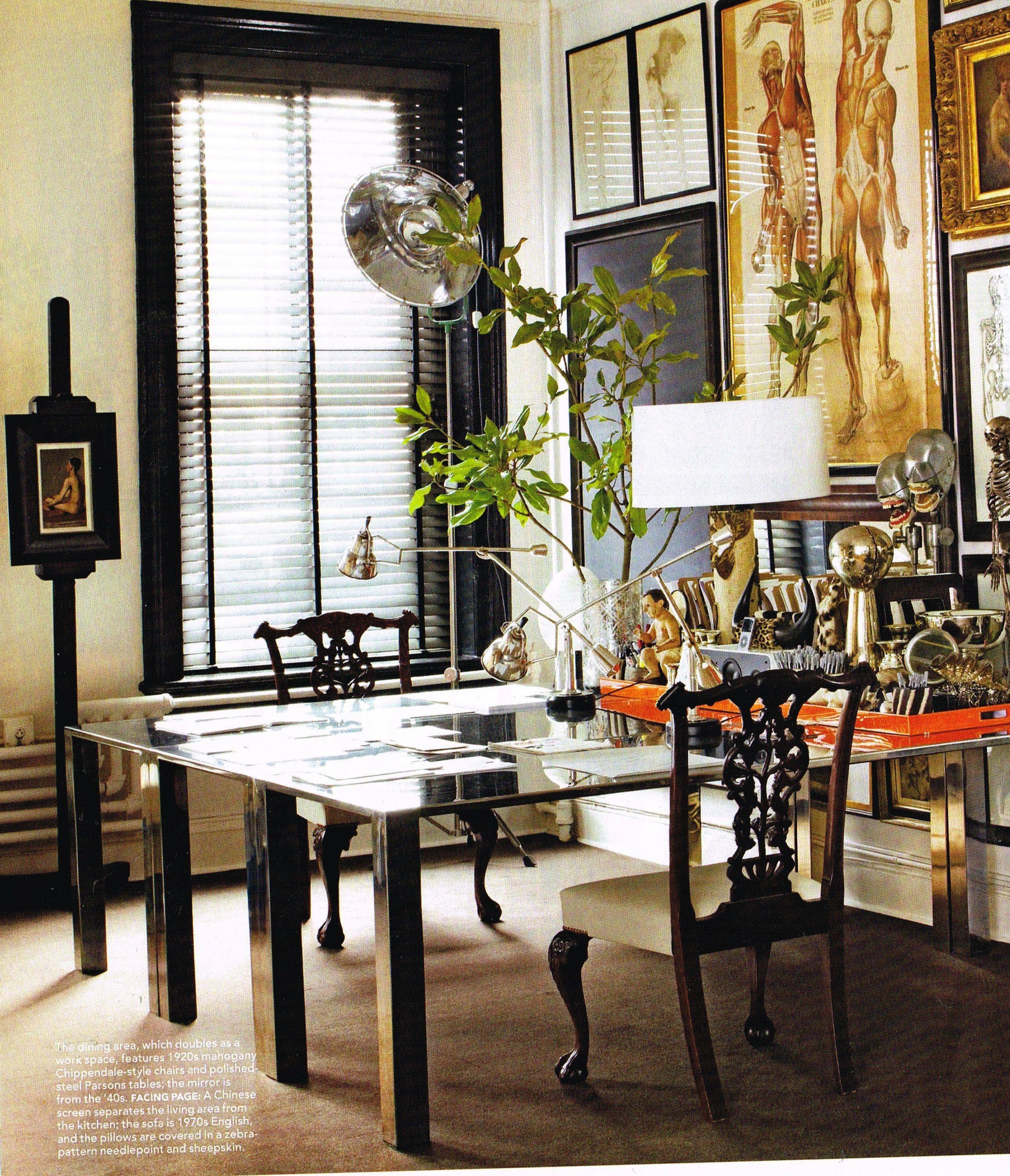 Parsons tables as partner's desk...