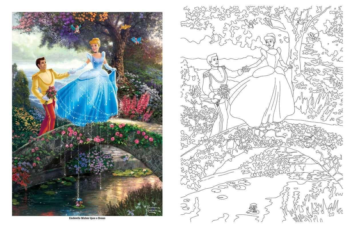 Disney Dreams Collection Thomas Kinkade Studios Coloring Book Amazonca