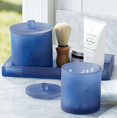 Serra Navy Blue Bath Accessories Blue Bathroom Accessories Bath Accessories Bath Accessories Set
