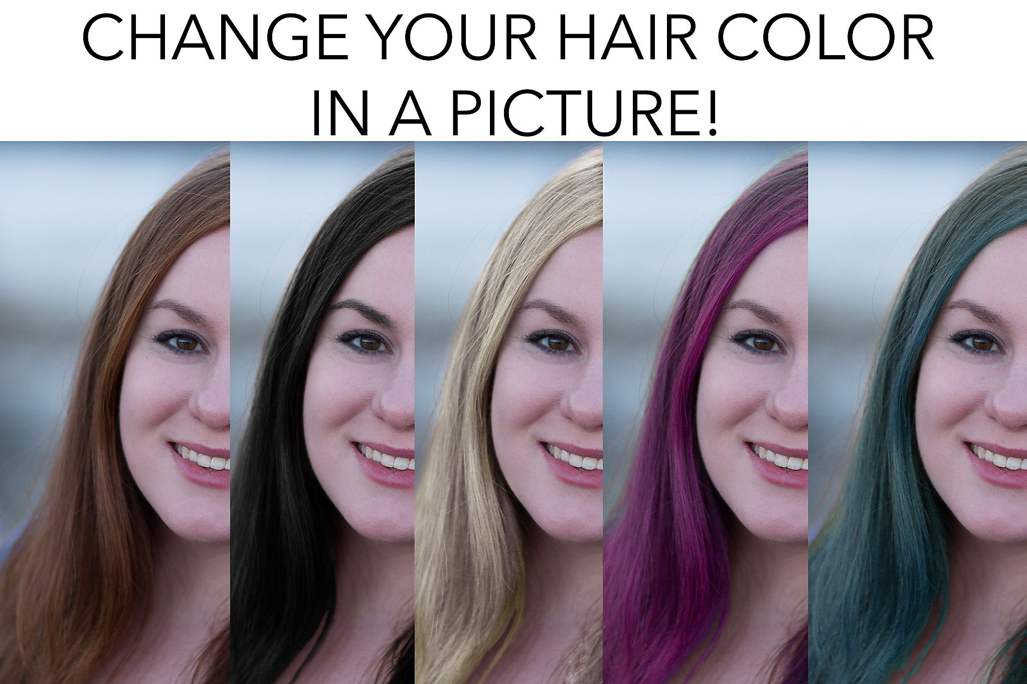 Change Your Hair Color In A Picture Photo Retouching Services