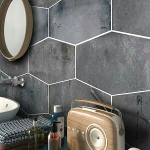 Jeffrey Court Elongated Hex Tile Home Depot Home Depot Bathroom
