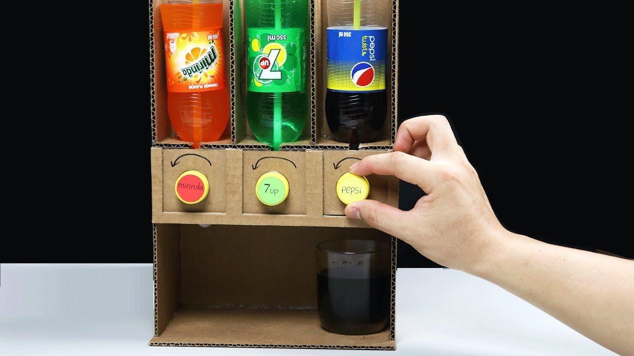 How To Make Pepsi 7up Mirinda Dispenser Youtube Diy Fountain Dispenser Diy Soda Fountain Machine