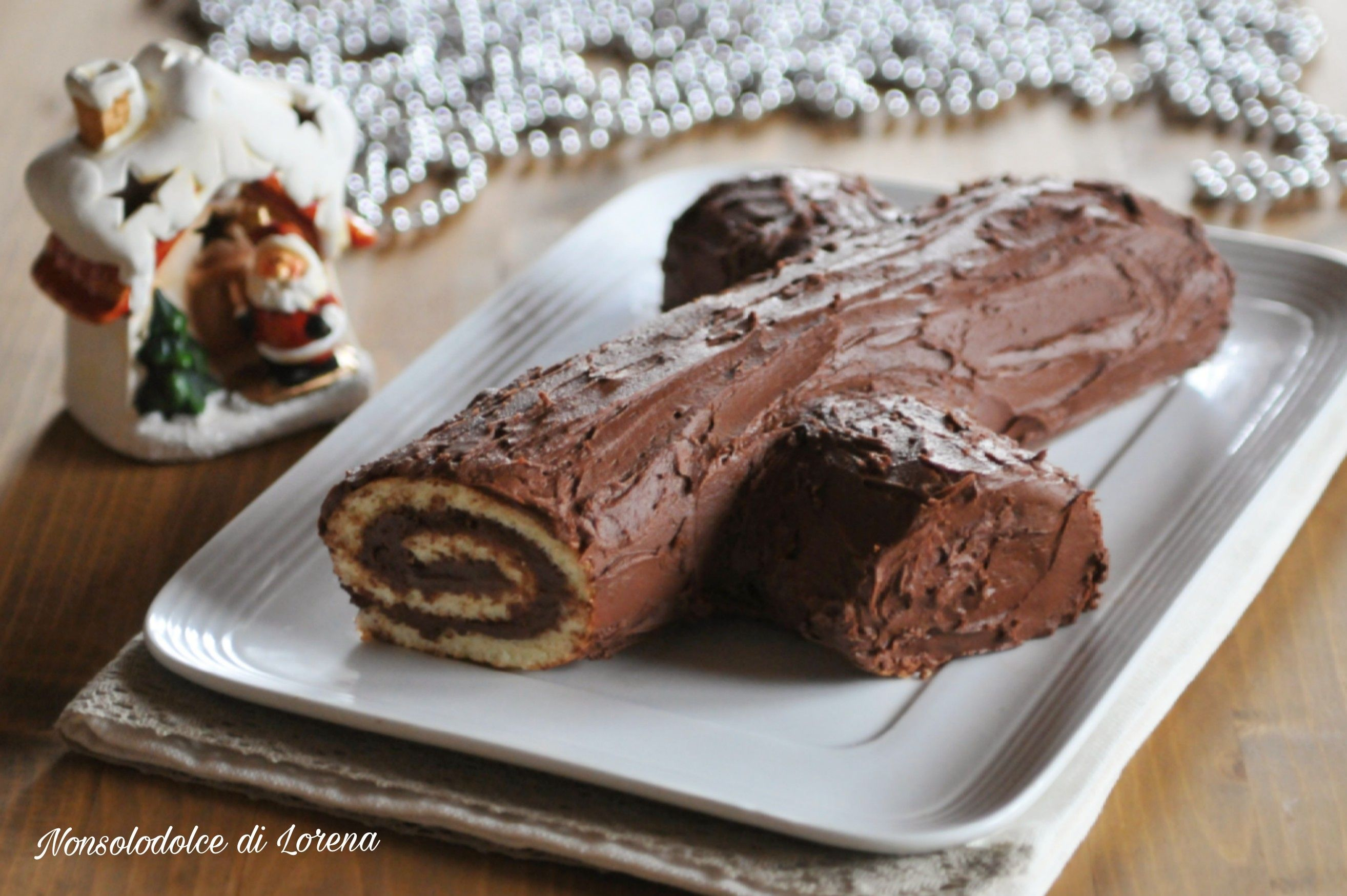 Tronchetto Di Natale Leggero.Tronchetto Di Natale Al Cioccolato Dolce Golosissimo Delle Feste