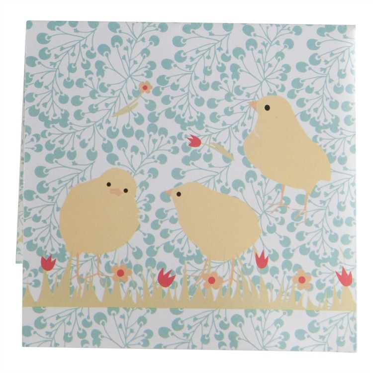 Spring Chicks Paper Cocktail Napkin from Because I Like U