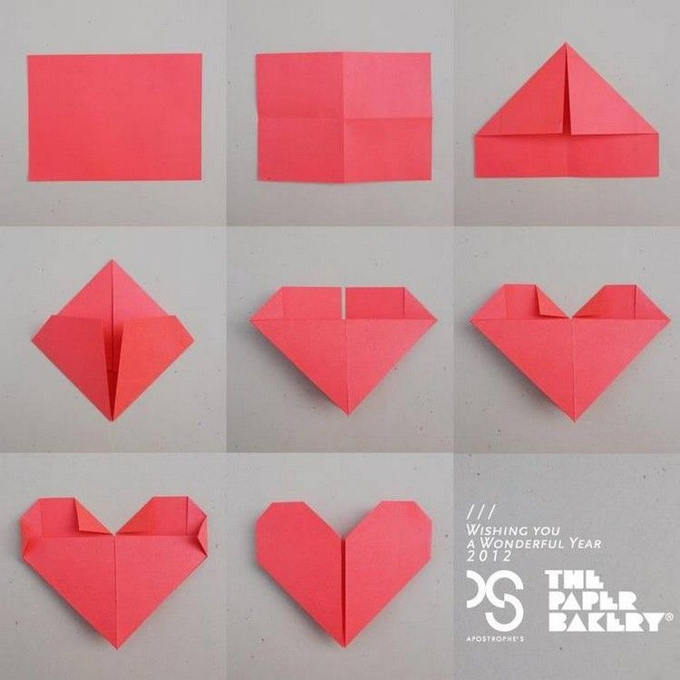 Folded Paper Heart Jpg 750 750 Paper Hearts Origami Paper Folding Crafts Origami Easy