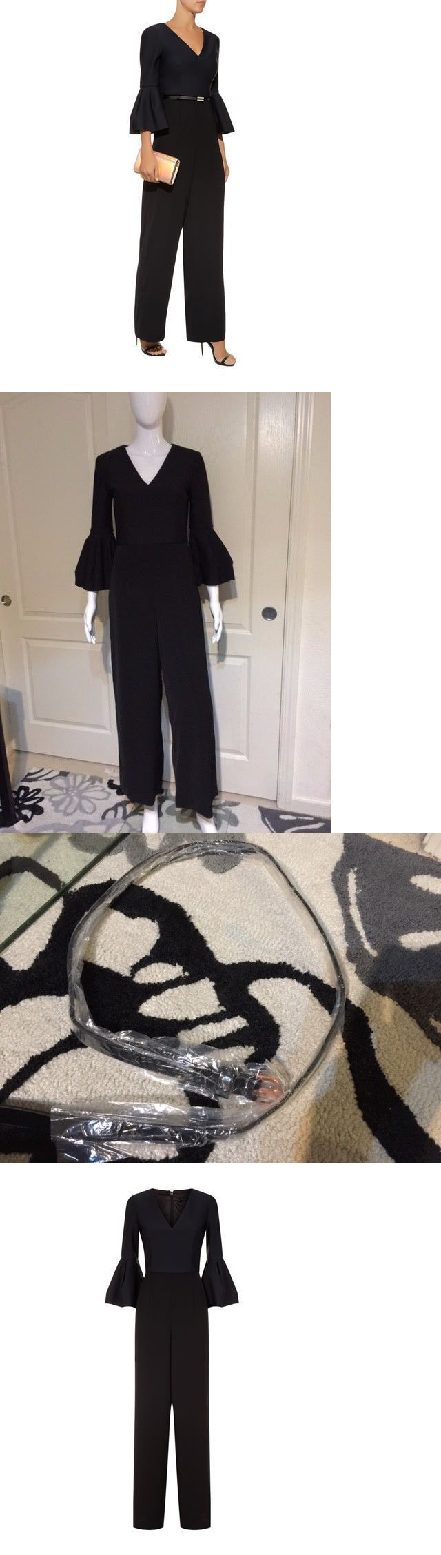 4f8b306d10c Jumpsuits and Rompers 3009  Ted Baker Theah Full Flared Sleeve Jumpsuit In  Black Wide Leg With Belt New  349 -  BUY IT NOW ONLY   169 on eBay!