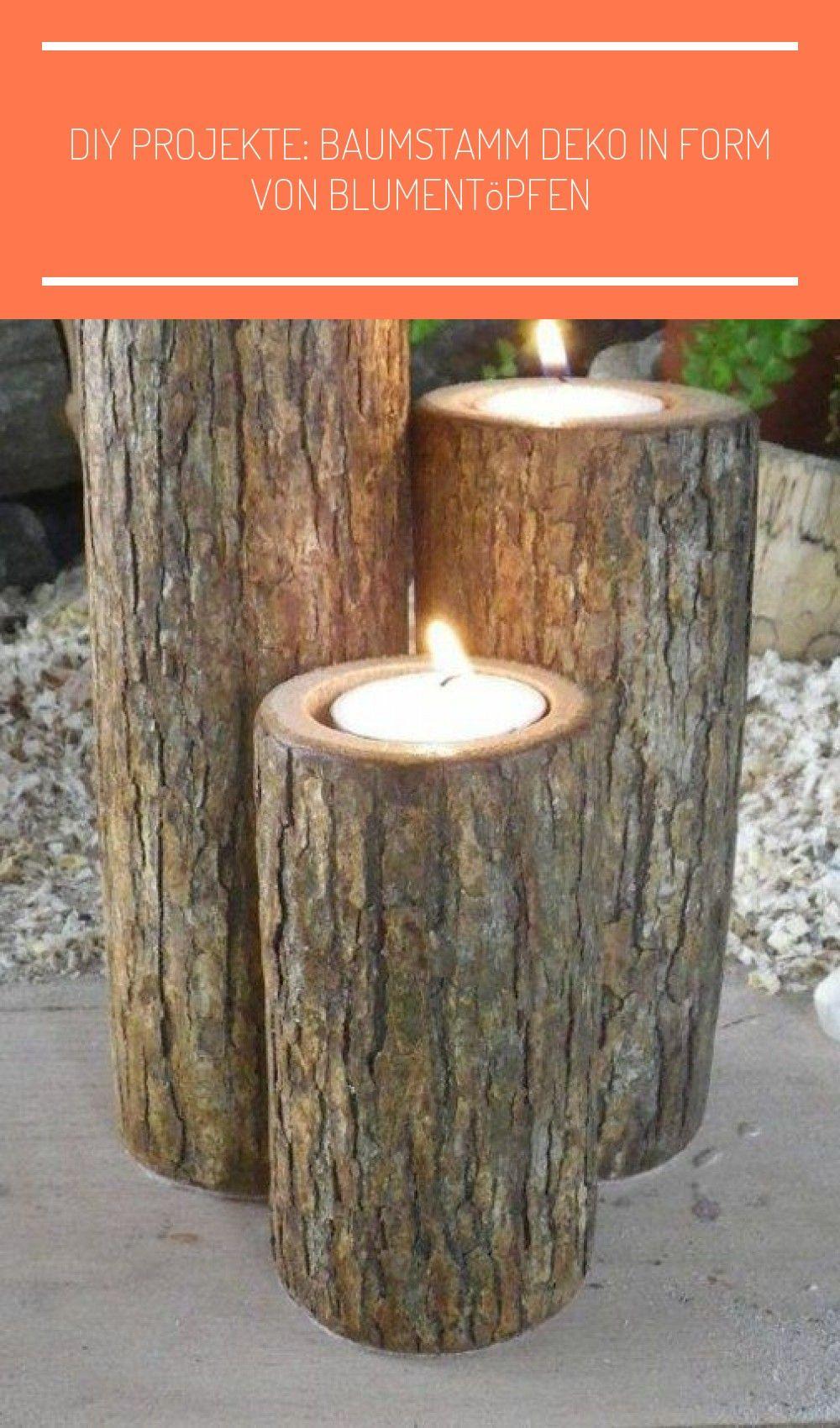 Diy Baumstamm Projekte Kerzenstander Im Garten Holzscheiben Deko Garten Diy Projekte Baumstamm Deko In In 2020 Diy Outdoor Lighting Backyard Lighting Backyard Trees