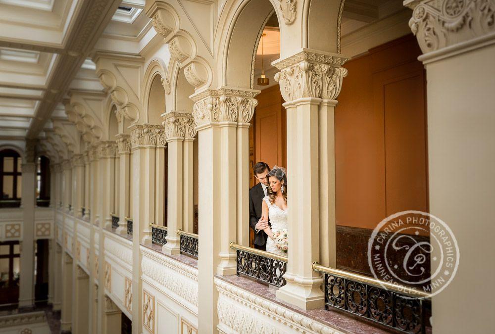 wedding halls st paul mn%0A Landmark Center St Paul MN Wedding   Minneapolis wedding photographer  Carina Photographics