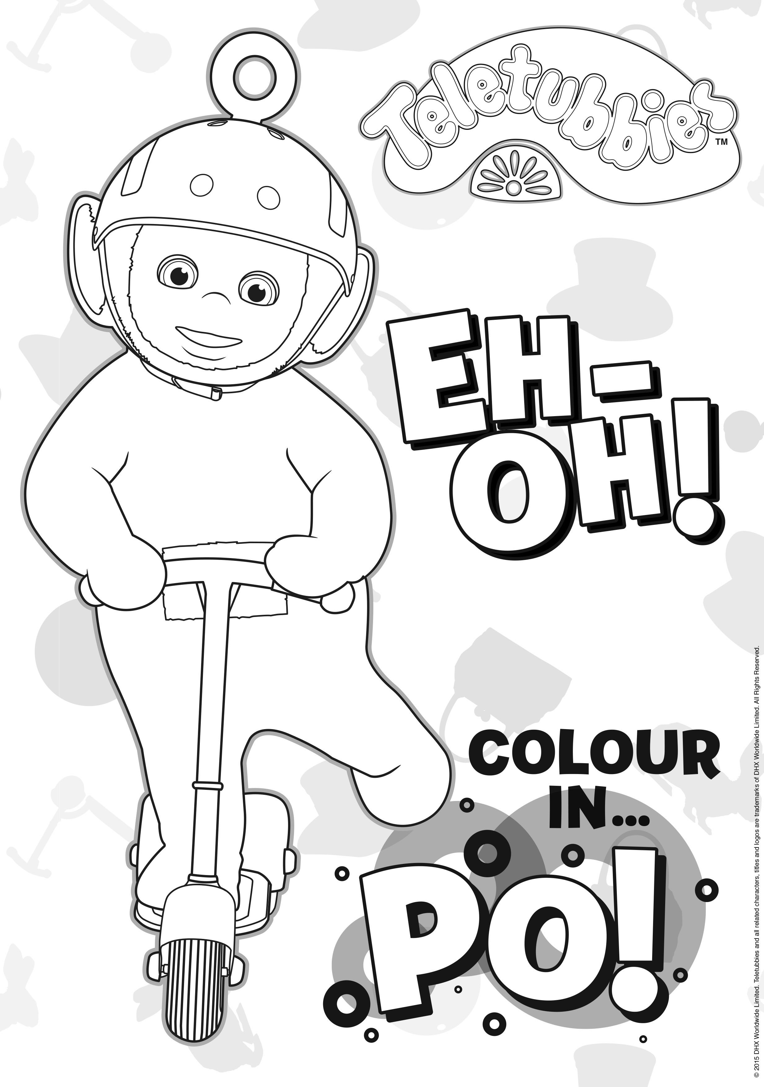 Let\'s get colouring-in Po! Have you printed all of the #Teletubbies ...