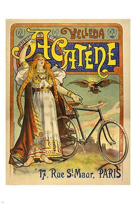 RARE NEW ART PRINT BICYCLE VINTAGE POSTER French Ad